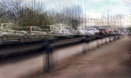 Ruchu drogowego dżemu pojęcie Obraz Royalty Free