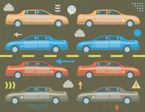 Ruchu drogowego dżemu pojęcie Obrazy Stock