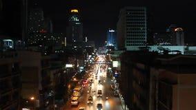 Ruchu drogowego dżem w centrum miasta zdjęcie wideo