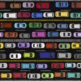 Ruchu drogowego dżemu Bezszwowa Deseniowa ilustracja ilustracji