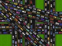 Ruchu drogowego dżemu Bitmap Horyzontalna ilustracja ilustracji