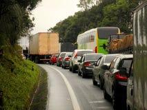 Ruchu drogowego dżemu Brazylia autostrada Zdjęcia Royalty Free