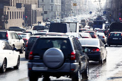 Ruchu drogowego dżem Fotografia Stock