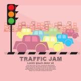 Ruchu drogowego dżem. Fotografia Royalty Free