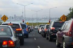Ruchu drogowego dżem w Auckland, Nowa Zelandia Obrazy Stock