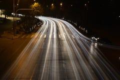 Ruchu drogowego ngiht zdjęcie royalty free