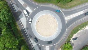 Ruchu drogowego okrąg, rondo zbiory wideo