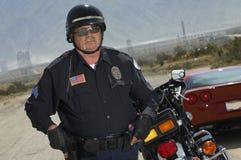 Ruchu drogowego policjant Na drodze Obrazy Royalty Free