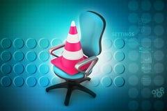 Ruchu drogowego rożek z krzesłem ilustracji