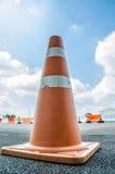 Ruchu drogowego rożek na asfalcie Zdjęcia Stock