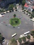 Ruchu drogowego rondo w mieście fotografia stock