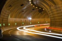 Ruchu drogowego tunel od inside Obraz Stock