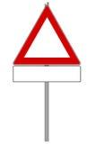 Ruchu drogowego znak Obraz Royalty Free
