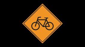 Ruchu drogowego znak animujący zbiory
