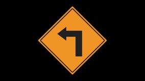 Ruchu drogowego znak animujący zbiory wideo
