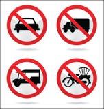 Ruchu drogowego znak samochód Zdjęcie Stock
