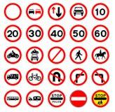 Ruchu drogowego znaka kolekcja Fotografia Royalty Free