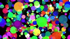 Ruchu graficzny abstrakcjonistyczny okrąg kropkuje animaci tło ilustracji
