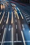Ruchu miasta zamazany drogowy ruch drogowy Fotografia Royalty Free
