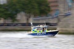 ruchu motorboat policja fotografia royalty free