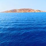 ruchu przypływu abstrakcjonistyczna piana i spienia w morzu mediterrane Obraz Royalty Free