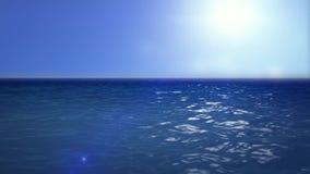 Ruchu tło przyglądający nad spokojnym oceanem out ilustracji