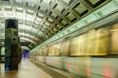 Ruchu zamazany metro zdjęcie royalty free