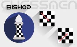 Ruchy szachowy biskup Zdjęcia Stock