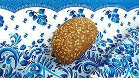 Ruciany chleb na stole zdjęcia royalty free