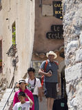 Ruciany Du Brec w Èze wiosce, Francja Zdjęcia Stock