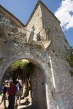 Ruciany Du château w Èze wiosce, Francja Zdjęcia Stock