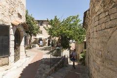Ruciany Du château w Èze wiosce, Francja Obraz Royalty Free