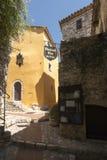 Ruciany Du château w Èze wiosce, Francja Zdjęcie Stock