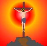 ?rucifix sur Isus en travers Photos libres de droits