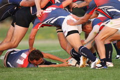 Ruck action. Royalty Free Stock Photos