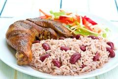Ruck-Huhn mit Reis Stockbilder