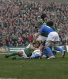 Ruck,Ireland V Italy,6 Nations Rugby Stock Image