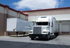 Ruck at warehouse loading bay