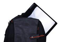 Rucksack mit Laptop Stockbilder
