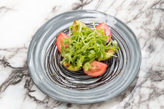 Rucola蕃茄鲕梨 免版税图库摄影