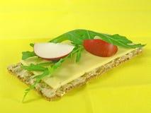 rucola chleb crispy rzodkwi zdjęcia stock