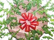 Rucola e pomodoro immagine stock