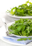 Rucola on plate Royalty Free Stock Photography