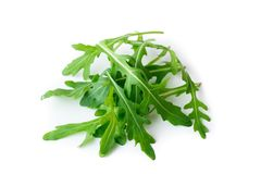 Rucola. Isolated on white background Royalty Free Stock Photos
