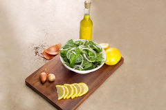 Rucola salad leaves Royalty Free Stock Images