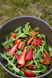 Rucola strawberry salad Royalty Free Stock Photos