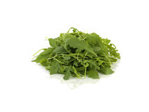 Rucola on white table Royalty Free Stock Photo