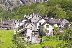 Ructis Village in Ticino Royalty Free Stock Image