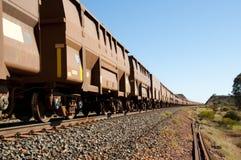 Ruda żelaza pociąg fotografia stock