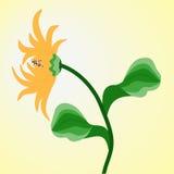 Rudbeckia amarelo da flor no fundo da luz solar ilustração royalty free